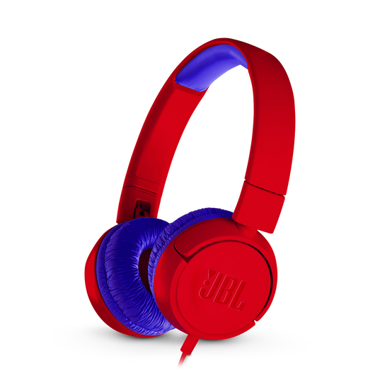 JBL JR300 - Red - Kids on-ear Headphones - Hero