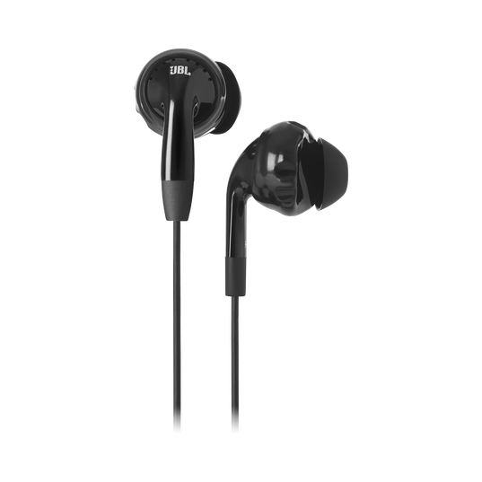 JBL Inspire 100 - Black - In-ear, sport headphones with Twistlock™ Technology. - Hero