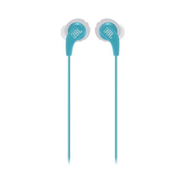 JBL Endurance RUN - Teal - Sweatproof Wired Sport In-Ear Headphones - Front