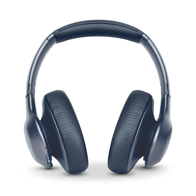 JBL EVEREST™ ELITE 750NC - Steel Blue - Wireless Over-Ear Adaptive Noise Cancelling headphones - Front