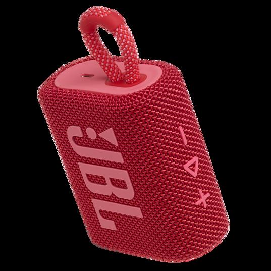 JBL Go 3 - Red - Portable Waterproof Speaker - Detailshot 2