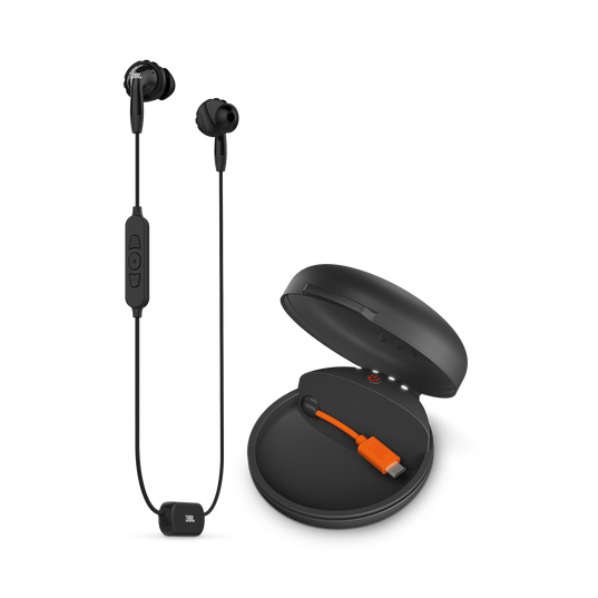 JBL Inspire 700 - Black - In-Ear Wireless Sport Headphones with charging case - Hero