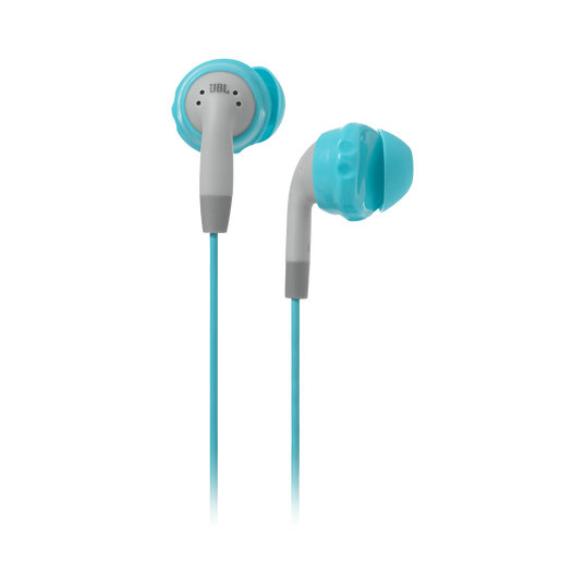 JBL Inspire 100 Women - Teal - In-ear, sport headphones with Twistlock™ Technology specifically made for women. - Hero