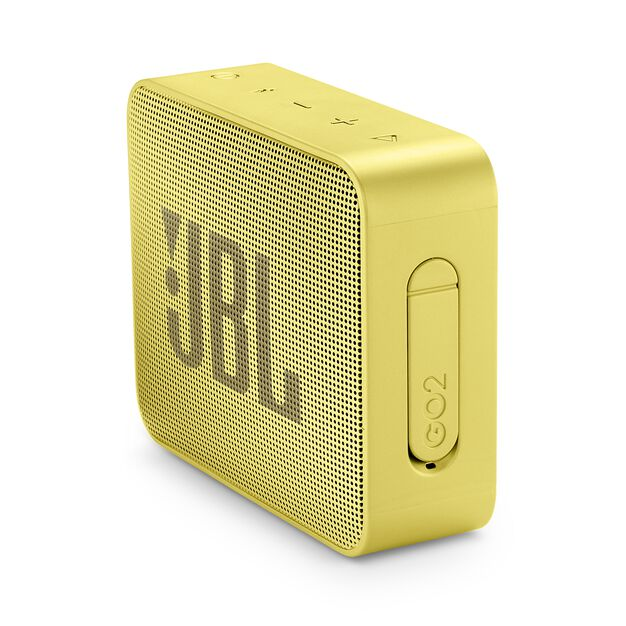 JBL GO 2 - Lemonade Yellow - Portable Bluetooth speaker - Detailshot 2