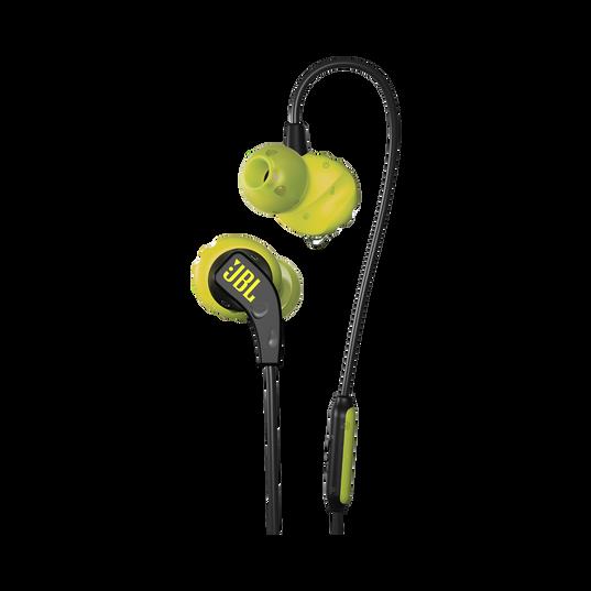 JBL Endurance RUN - Yellow - Sweatproof Wired Sport In-Ear Headphones - Hero