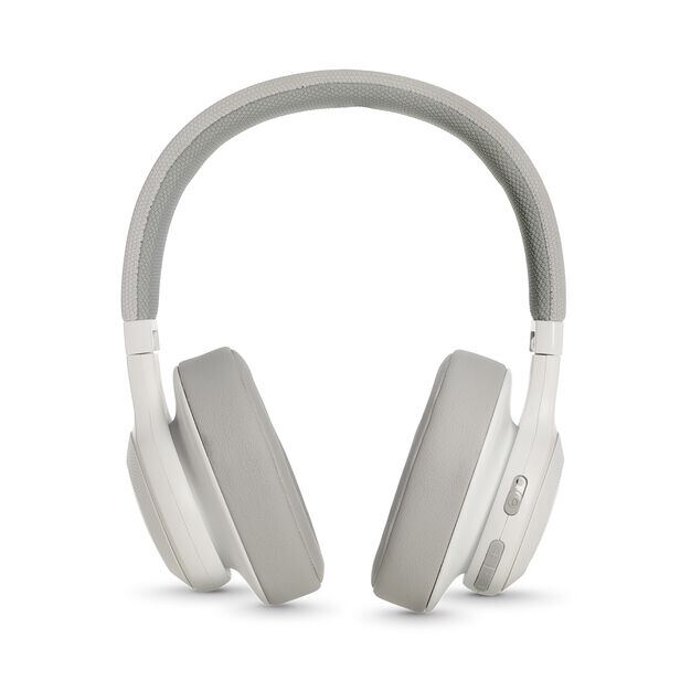 JBL E55BT - White - Wireless over-ear headphones - Detailshot 4