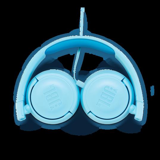 JBL JR300 - Ice Blue - Kids on-ear Headphones - Detailshot 3