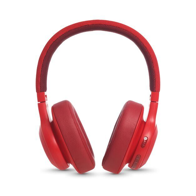 JBL E55BT - Red - Wireless over-ear headphones - Detailshot 4