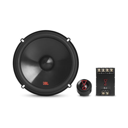 """Stage3 607CF - Black - 6-1/2"""" (165mm)  2-Way  component system  car speaker  for factory upgrade without grille - Front"""