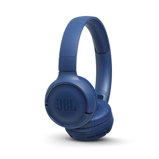 JBL TUNE 500BT - Blue - Wireless on-ear headphones - Hero