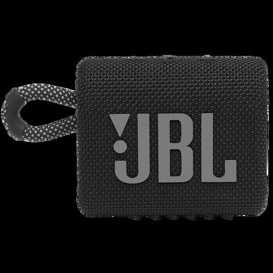 JBL GO 3 - Black - Portable Waterproof Speaker - Front