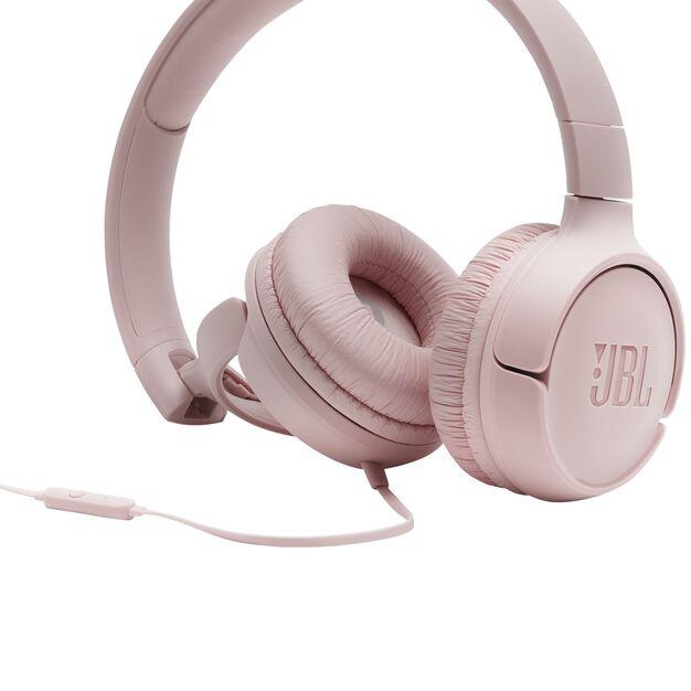 JBL TUNE 500 - Pink - Wired on-ear headphones - Detailshot 3
