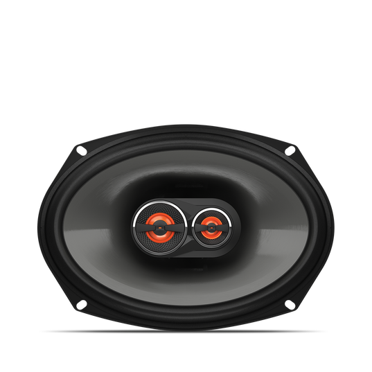 """GX963 - Black - 6"""" x 9"""" three-way car audio loudspeaker, 210W - Front"""