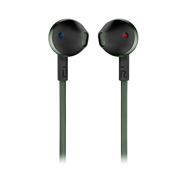 JBL TUNE 205BT - Green - Wireless Earbud headphones - Front