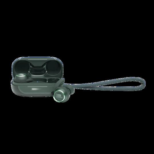 JBL Reflect Mini NC - Green - Waterproof true wireless Noise Cancelling sport earbuds - Hero
