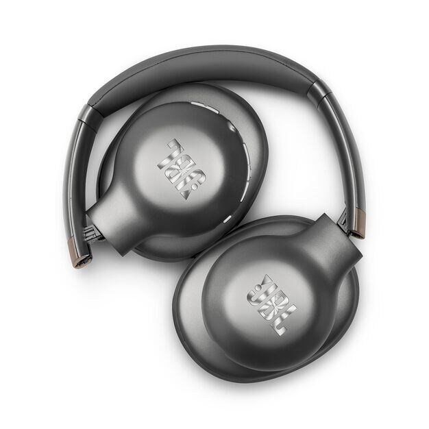 JBL EVEREST™ 710 - Gun Metal - Wireless Over-ear headphones - Detailshot 1