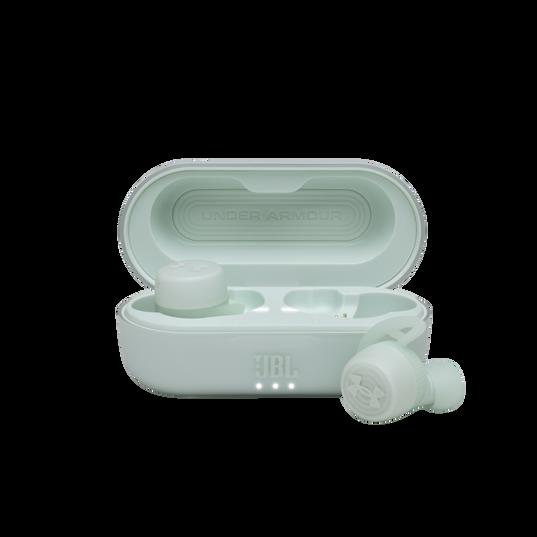 UA True Wireless Streak - Teal - Ultra-compact In-Ear Sport Headphones - Hero